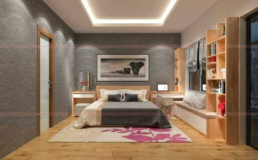 Nội thất phòng ngủ gỗ sồi tự nhiên