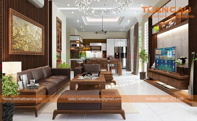 [Báo giá] Thiết kế nội thất phòng khách hợp phong thủy