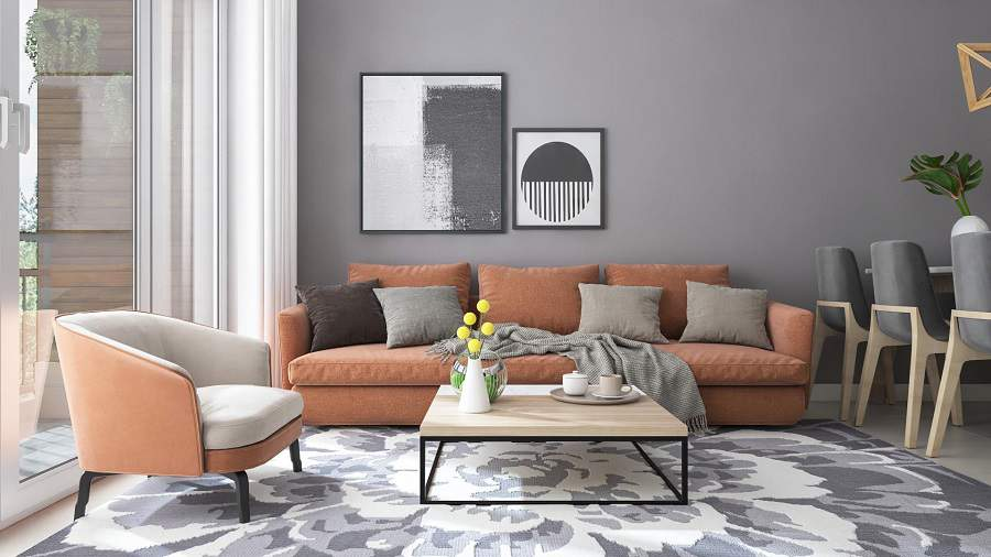 Thiết kế thi công nội thất nhà chung cư diện tích 70m2 với 2 phòng ngủ