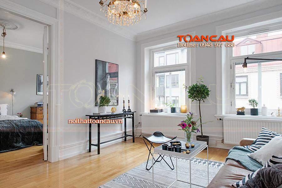 Những mẫu thiết kế nội thất chung cư nhỏ từ 40m2 – 50m2 siêu đẹp