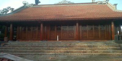 Ngôi nhà gỗ 3 gian thể hiện sự tài hoa của những người nghệ nhân