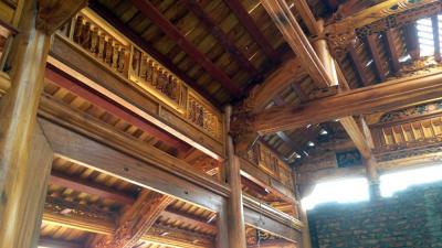 Ngôi nhà gỗ mít 3 gian 2 chái chứa đựngcái hồn quê thân thuộc
