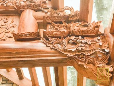 Nhà gỗ Gõ Đỏ 5 gian - Hưng Yên