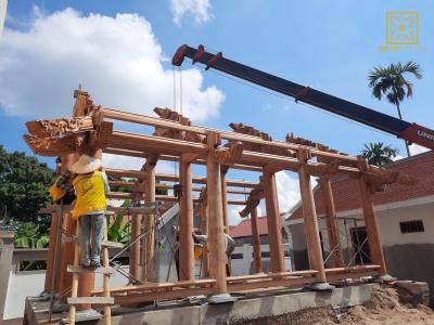 Độc đáo công trình nhà thờ họ 3 gian gỗ Lim Nam Phi kết hợp nhà ở và cảnh quan sân vườn